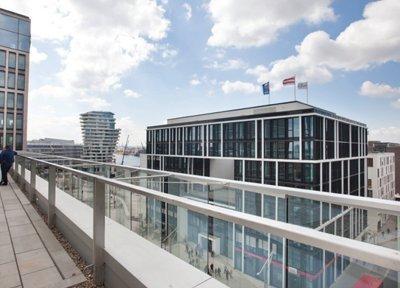 hoch über der HafenCity Hamburg