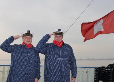 Maritime Rallye im Hamburger Hafen